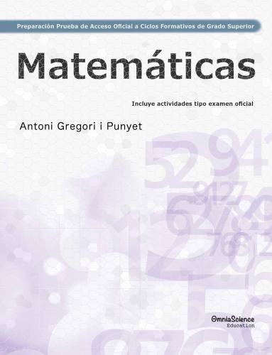 Cover for Preparación de la  Prueba de Acceso Oficial  a  Ciclos Formativos  de  Grado Superior: Matemáticas