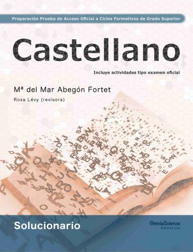 Cover for Solucionario Preparación de la Prueba de Acceso Oficial a Ciclos Formativos de Grado Superior: Castellano