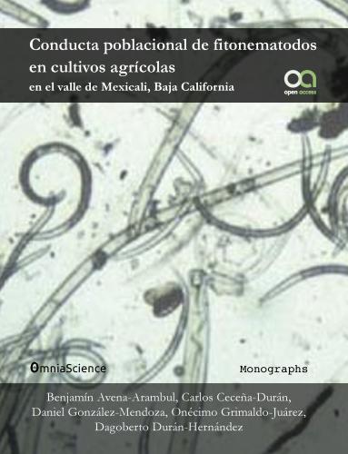 Cover for Conducta poblacional de fitonematodos en cultivos agrícolas en el valle de Mexicali, Baja California
