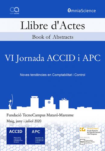 Cover for VI Jornada ACCID i APC: Noves tendències en Comptabilitat i Control