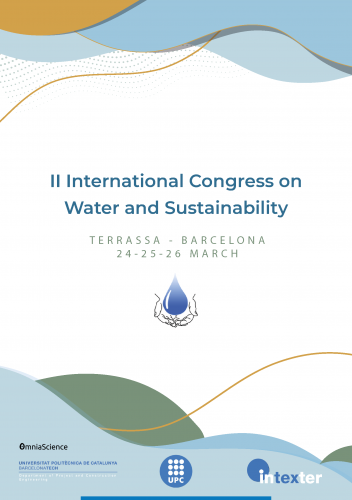 Cover for 2nd International Congress on Water and Sustainability (ICWS2021 - Terrassa, Barcelona)
