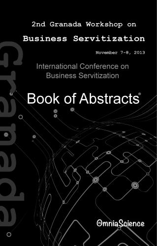 Cover for 2nd International Conference on Business Servitization (ICBS 2013 - Granada)