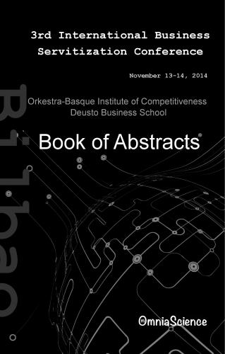 Cover for 3th International Conference on Business Servitization (ICBS 2014 - Bilbao)