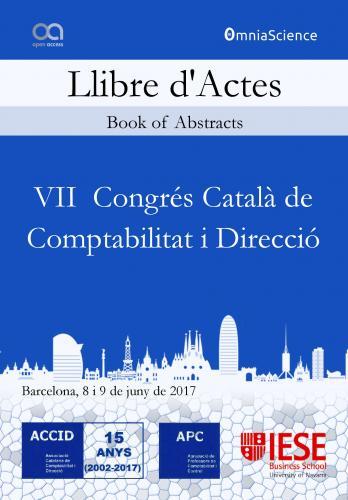 Cover for VII Congrés Català de Comptabilitat i Direcció (ACCID 2017 - Barcelona)
