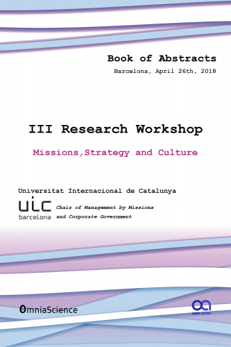 Cover for 3rd Research Workshop: Missions, leadership and sustainability (UIC 2018 - Barcelona)