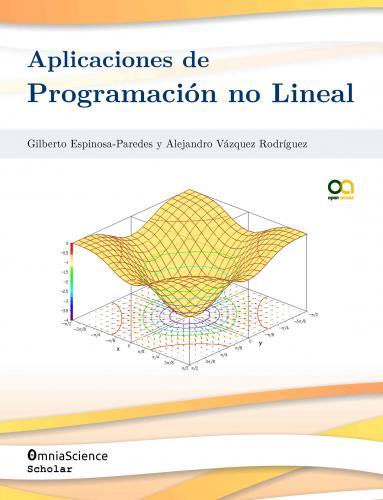Cover for Aplicaciones de programación no lineal